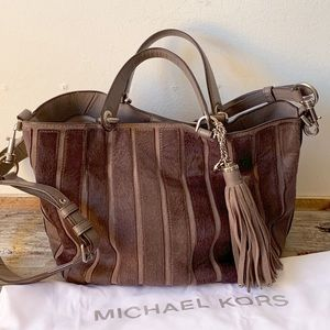 Michael Kors calf hair handbag with shoulder strap